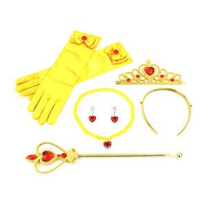 7 Pcs Girls Princess Costume Dress up Accessories set Queen Wand & Tiara Crown