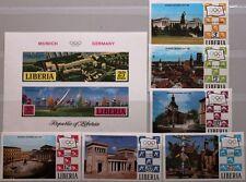 LIBERIA 1971 786-91 B Block 55 B 557-62 C187 Olympics 1972 München Views Flag **