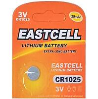 50 x CR1025  3V Lithium Knopfzelle 30 mAh (10 Blistercard a 5 Batterien)EASTCELL