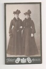 Vintage CDV Unknown Wealthy Society Sisters Rylander Photo Germany