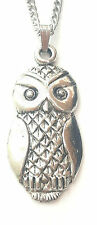 Owl Pendant Handcrafted in Solid Pewter In The UK + Free GiftBox PN63