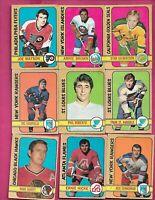 1972-73 OPC NHL PLAYERS CARD LOT (INV# C6840)