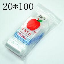 2000 x Resealable Zip Lock Clear Plastic Bag Magic Clip Seal Size 38mm*38mm