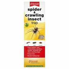 Rentokil 1 x 3 Pack Spider & Crawling Insect Beetle Ants Cockroaches Trap