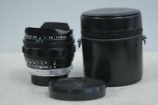Minolta MC Fish-Eye Rokkor-OK 16mm F2.8 Lens with Cap & Case