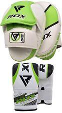 RDX Thai Kick Boxing Sciopero Curvo Braccio Pad MMA Fuoco Muay Punch Shield Mitt T7 G