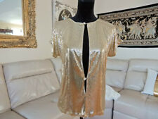 VTG.Mint 80's WHITING & DAVIS GOLD MESH METAL JEWEL DISCO MADONNA CLUB SEXY TOP