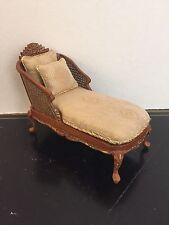 Dollhouse Miniature Artisan OOAK Caned Chaise