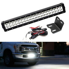 """Lower Grille 20"""" LED Light Bar Kit w/ Brackets, Relay For 2017-up Ford SuperDuty"""