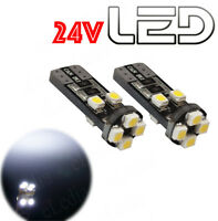 2 Ampoules w5w T10 Led Blanc Camion TRUCK 24V SCANIA  IVECO  MAN  MERCEDES