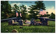 Mid-1900s Grave of Myles Standish, Duxbury, MA Postcard
