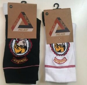 New AW17 Palace POW Socks 1x white 1x black size S/M Lady Diana small / medium