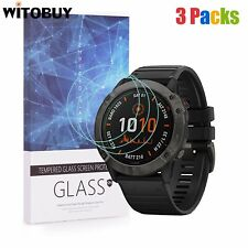 For Garmin Fenix 6x Series Tempered Glass Screen Protector 9H Hardness(3 Packs)