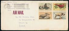 Mayfairstamps US 1972 to India Wildlife Conservation Combo Cover wwm_14443