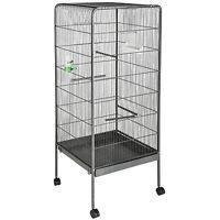 Volière cage à oiseaux canaries perruches perroquets metal 146x54x54cm