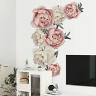 Removable Wall Stickers Peony Flower Wall Decal Living Room Home Art Decor Au