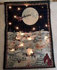 Christmas Night Hanging Lighted Tapestry Decor