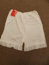 Vtg Glencraft Snow White Nylon Tricot Short Above Knee Pettipants Half Slip L