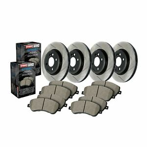 StopTech For 13-17 Ford Focus Disc Brake Pad and Rotor Front-Rear Kit  934.39002