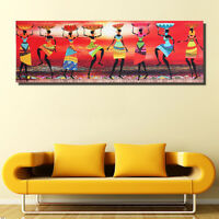 African Women Abstract Canvas Print Painting Poster Home Wall Art Decor Unframed