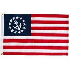 "16x24 Embroidered Sewn Nautical Ensign Yacht Naval 300D Nylon Flag 16""x24"""