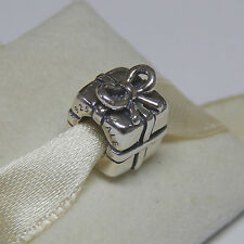 New Authentic Pandora Charm Present Gift with Ribbon Bow 790300 Box Included
