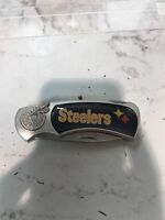 PITTSBURGH STEELERS ABSTRACT LOGO FOLDING POCKET KNIFE the size on the photo!!