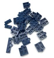 Lego New 25 Dark Blue Hinge Plates 1 x 4 Swivel Top Base Complete Assembly