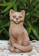 Sculpture En Pierre Chats Figurine Animale Statuette De Jardin Idées Cadeaux