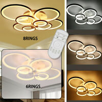 Modern Chandelier Lamp LED Acrylic Ceiling Light with 6 /8 Head - Remote Control