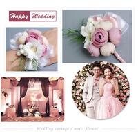 Vintage Wedding Flower Corsage Wrist Length Bracelet Wedding Hand Flower