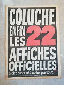 Charlie hebdo Coluche enfin les 22 affiches officielles