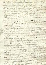 Manoscritto Studio sui Fiumi Nota Geografica e Storica Nilo Tamigi e Rodano 1667