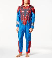 $160 BRIEFLY STATED Mens PAJAMAS SPIDERMAN ONE-PIECE JUMPSUIT SLEEPWEAR SIZE S