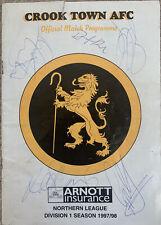 More details for crook town v sunderland 1997/98 with autographs