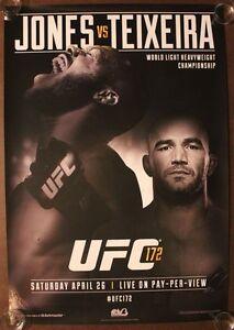 Official UFC 172 Jon Jones vs Teixeira Poster 27x39 (Near Mint)