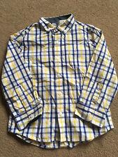 NEXT Boys Blue Yellow & White Check Long Sleeved Shirt 3-4 Years