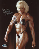 BETTY PARISO SIGNED AUTOGRAPHED 8x10 PHOTO CELEBRATED BODYBUILDER BECKETT BAS