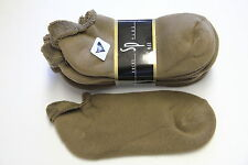 4PAIR'S STRETCH LOW ANKLE SOCKS 9-11 TAN ROLL TOP MENS/ WOMEN NO SHOW shoe 5-9