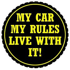 MY RULES LIVE WITH IT! - FUNNY CAR TAX DISC HOLDER  - NEW - GIFT - REUSABLE