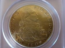 GOLD Spain, 8 Escudo 1802 M. PCGS AU Details, Ex Aureo GREAT PRICE