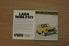 LADA NIVA 2121 BROCHURE / PROSPEKT 1978