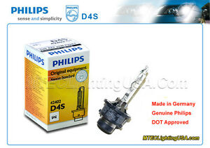 GENUINE PHILIPS D4S 42402 C1 XENSTART XENON HID LIGHT BULB LAMP MADE IN GERMANY