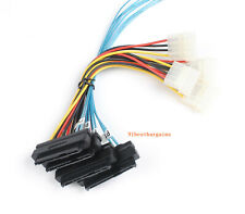 Mini SAS Power Cable 36Pin (SFF-8087) to SAS 29Pin (SFF-8482) w/ 4-Molex 1M 3ft