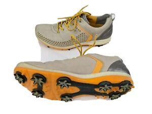 Ecco Biom Mens US 8 EUR 40 Orange Beige Soft Spike Golf Cleats