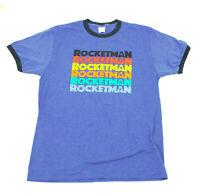 EUC Elton John Rocketman Movie Tour 2019 Light Blue Tee Shirt