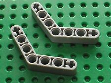 2 x LEGO TECHNIC OldGray beam liftarm bent ref 32348 / Set 7166 8011 8465 8366