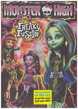 MONSTER HIGH FREAKY FUSION (DVD, 2014) NEW