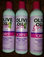 3 Bottles ORS Olive Oil Girls Moisturizing Styling Lotion Restore Shine Hair