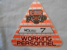 """U2 - Pop Mart Tour - backstage pass working personnel """"house"""" free shipping"""